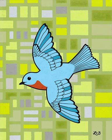 Tauba Auerbach. Bluebird vector tattoo.