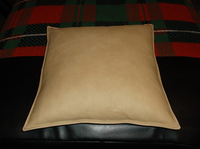 Custom Leather Pillow