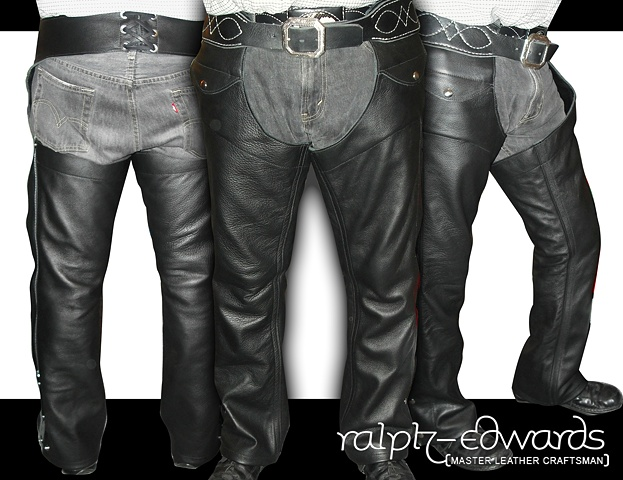 Riding Chaps - 3/4 oz. Cowhide Leather with front pockets