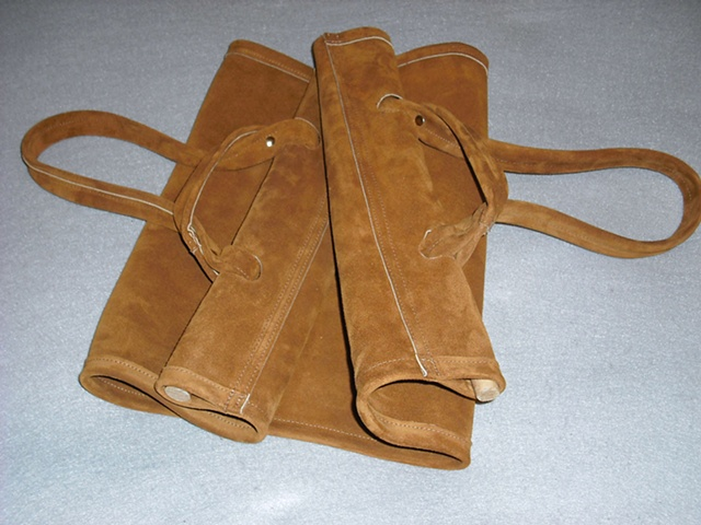 Carrier For Firewood - 4/5 oz. Cowhide Suede