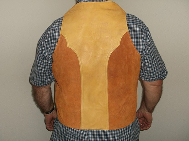 Custom Elk and Cowhide Vest
