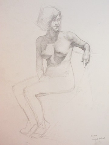 Seated Woman turning to the right