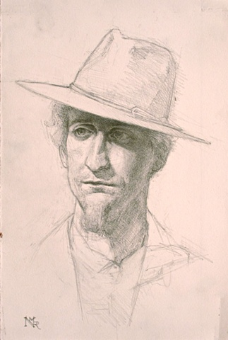 Cori; Study for Man with a Wide Brimmed Hat