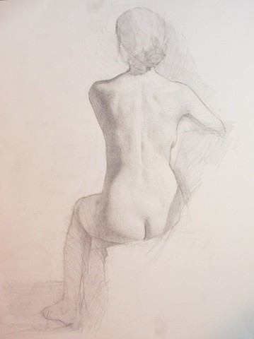 Seated Nude; Back View