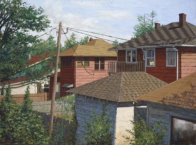 """Asheville Rooftops"" - Large Version"