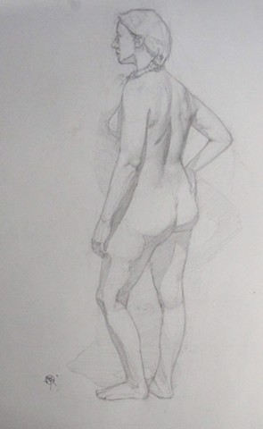 Standing Woman; Side View