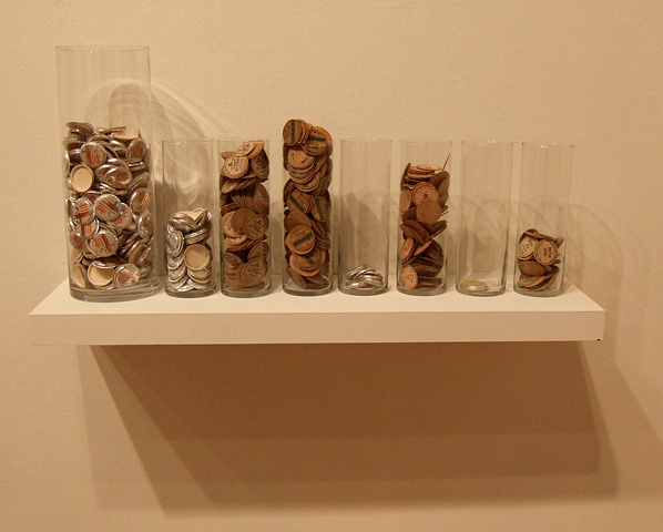 Bottlecap Economics, installation shot