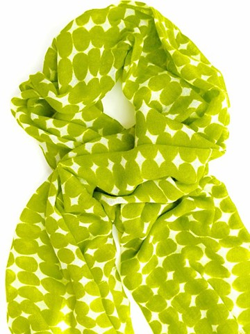 knobs citron wool scarf