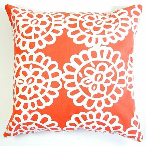 lace orange pillow