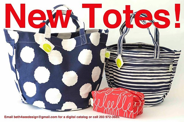 blue and red new totes
