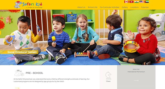 SafariKid USA website banner