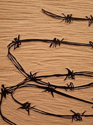 If you say so. barbed wire  detail