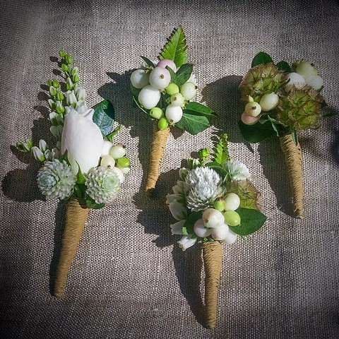 late summer boutonnieres