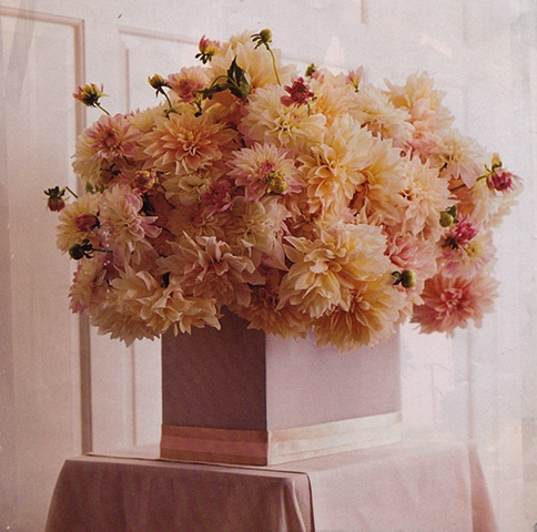Dahlia arrangement from Martha Stewart  Weddings magazine
