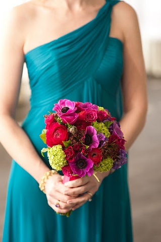 Bridesmaid  bouquet with anemones