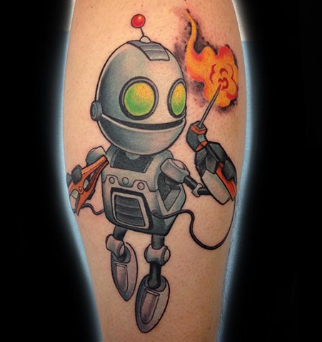 Clank Tattoo By Landon Wierenga  Color Crimson Empire Tattoo