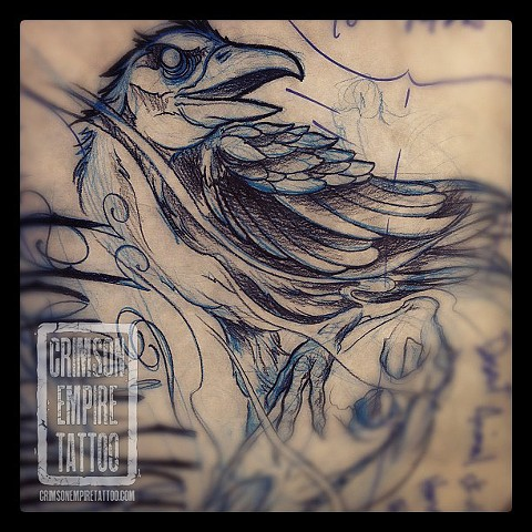 Crow sketch on Jared Phair
