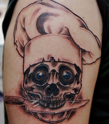 Chef Skull Tattoo