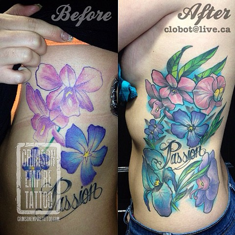 Flowers rework - Before and After - by Chad Clothier. Follow Chad @clobot