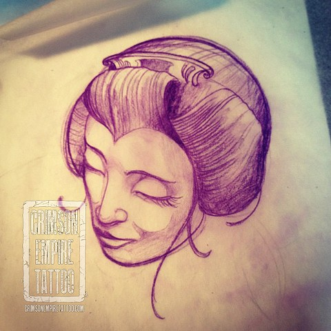 Lady face sketch by Chad Clothier. Follow Chad @clobot