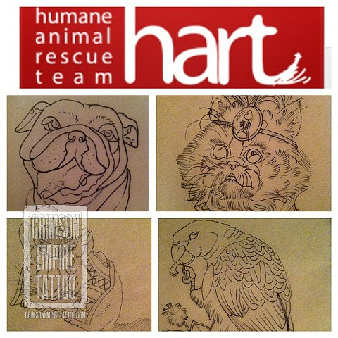 HART animal sketches by Ashley Hoff. Follow Ashley @ashley_hoff