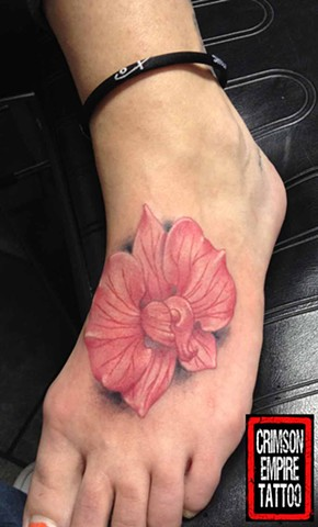 Flower Foot Crimson Empire Tattoo