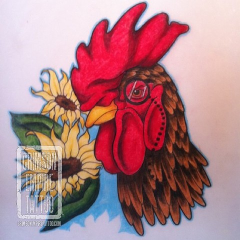 Rooster Sketch by Jessica Doyle
