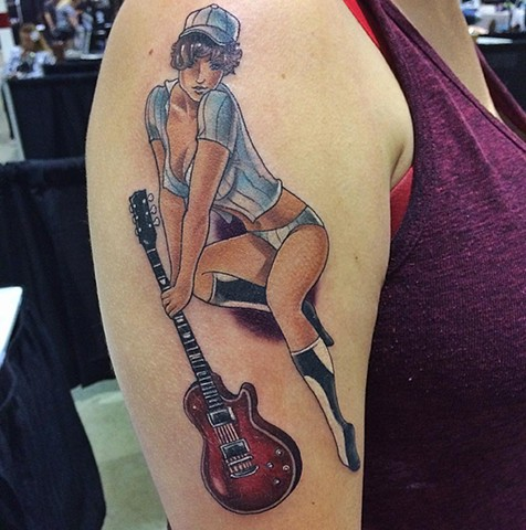 Pin-up Tattoo By Chad Color Crimson Empire Tattoo - 07.2017