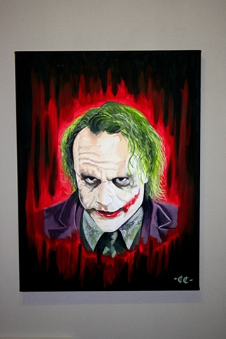 Joker Painting Heath Ledger