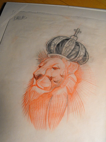Lion Crown Sketch