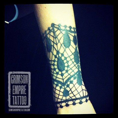 Lace on forearm by Jessica Alther. Follow Jess @jessalther