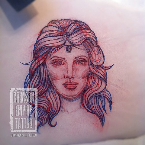 Lady face sketch by Jessica Doyle. Follow Jessica @jessicadoyle