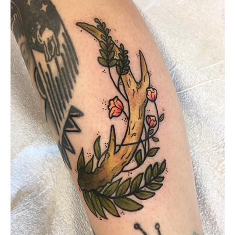 Branch Color Tattoo (other tattoos shown not done by artist)
