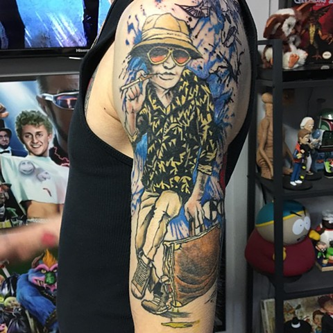Fear and Loathing in Las Vegas Full Color Tattoo