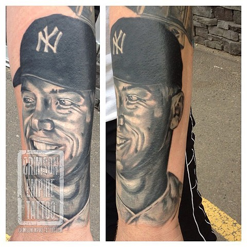 NY portrait on forearm by Josh Lamoureux