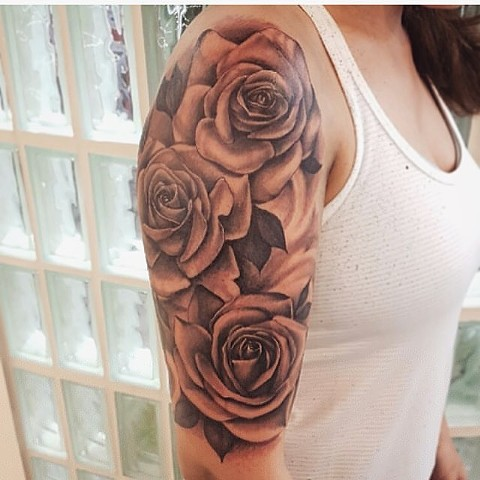 Rose Black and Grey Tattoo