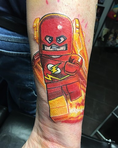 Lego Flash Full Color Tattoo