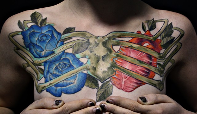 Paige's Chest Piece Tattoo