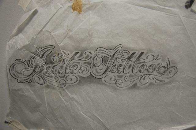 Script Sketch Tattoo