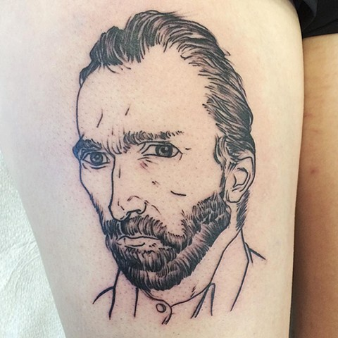 Sketchbook Van Gogh Tattoo By Chad Black and Grey Crimson Empire Tattoo - 11.2017