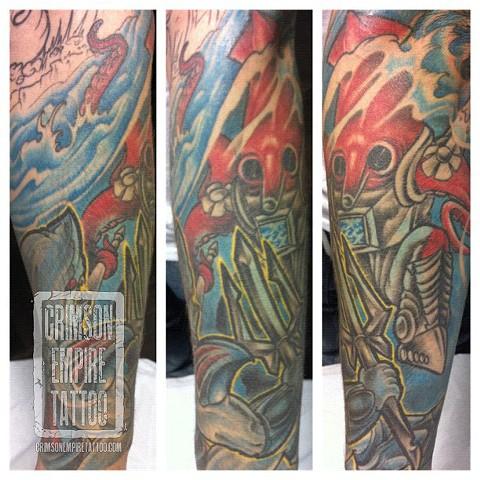 Battle Beast arm sleeve by Jared Phair
