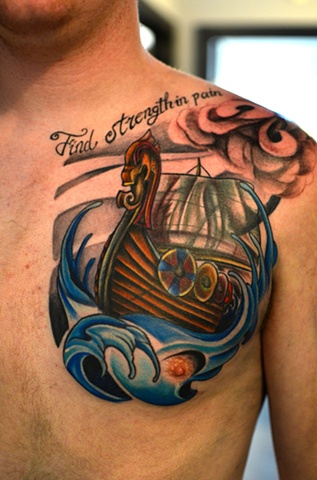 Viking Ship Tattoo 2012