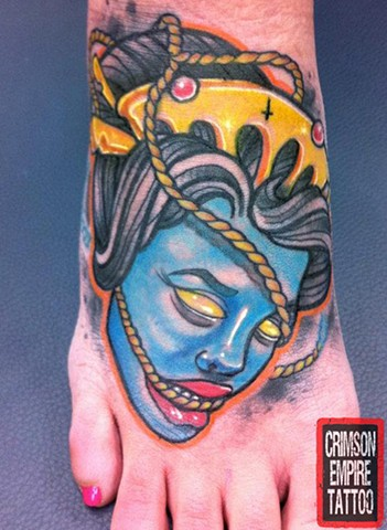 Geisha Head - Crimson Empire Tattoo