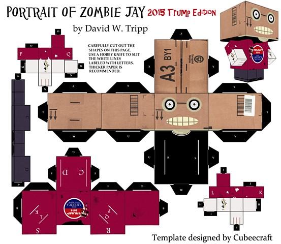 Zombie Head in a box Jay 2016 Trump Edition