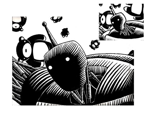 Dreams of the TeddyBear Gatherer (Detail) large mock-up: Head