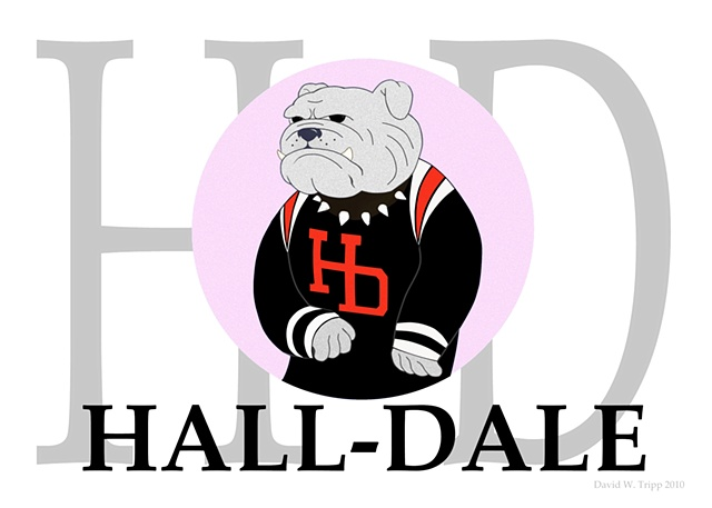 Hall-Dale pink logo