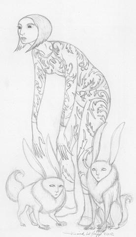 Initial drawing for digital image