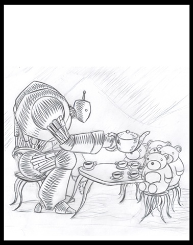 "3rd update ""The Tea Party 2.0"" sketch for Print"