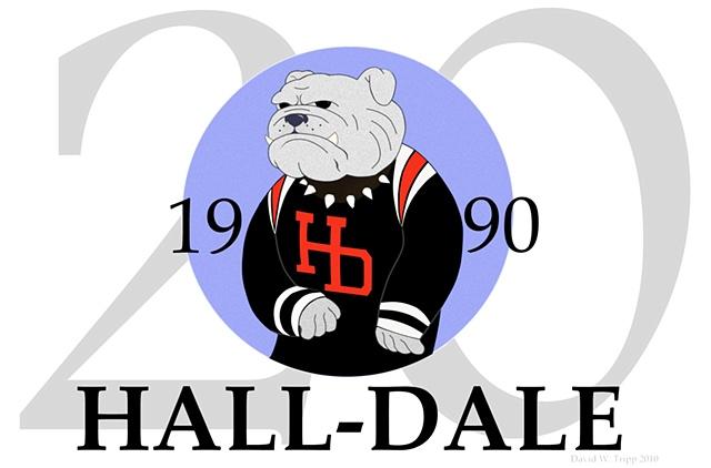 Hall-Dale 20th Anniversary Logo (Blue)