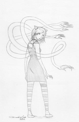Pencil Sketch for Color Study.